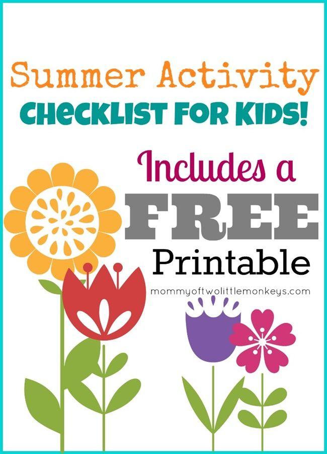 Summer Bucket List  Printable Activity Sheet - Fun With Kids