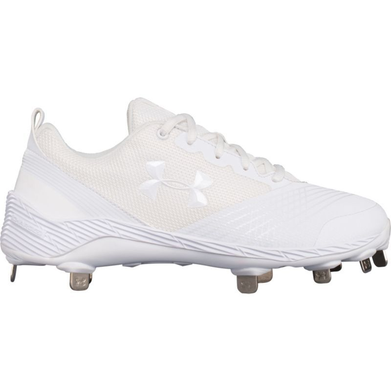 e221c6535722 Under Armour Women's Glyde Metal Fastpitch Softball Cleats, Size: 11.0,  White