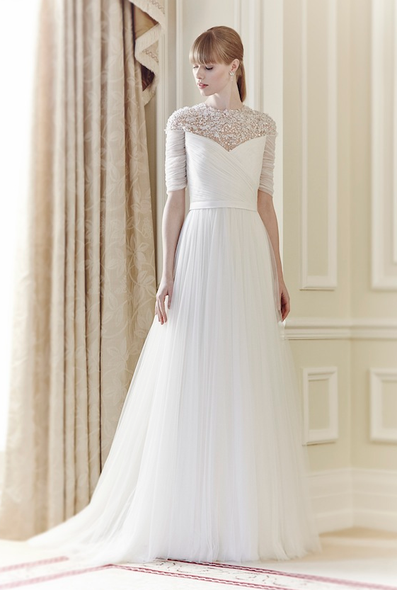 """""""Mary"""" by Jenny Packham, available January 2014 http://www.jennypackham.com/pages/bridal-2014#carousel_holder"""