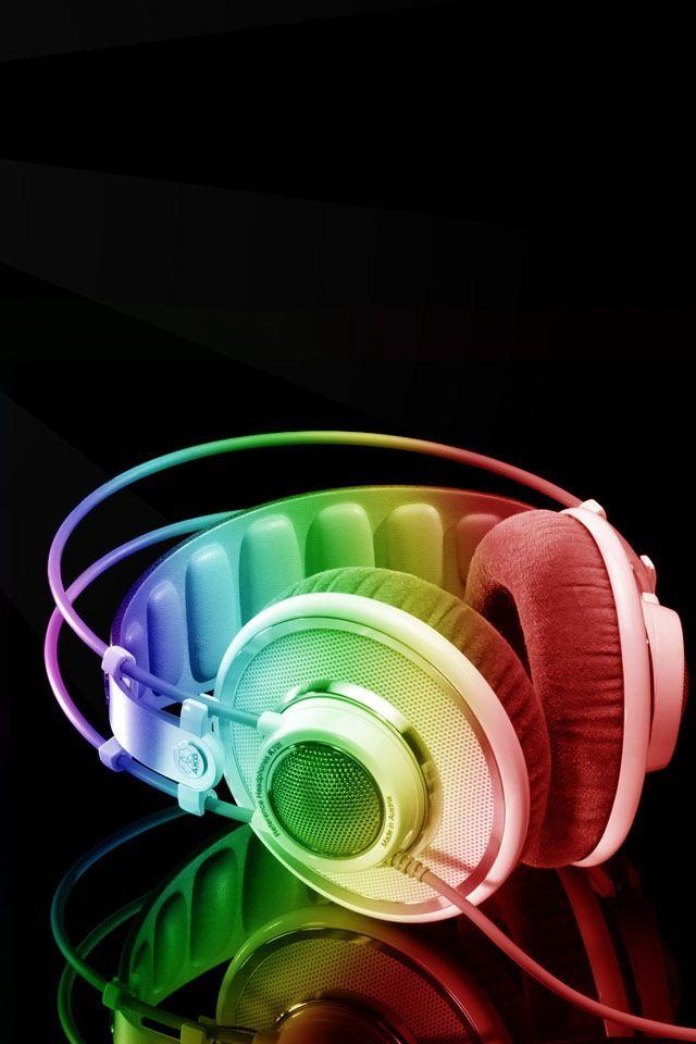 68a82b90cf05e Rainbow Headphones   Cool   Headphones, Music flow, Dj system