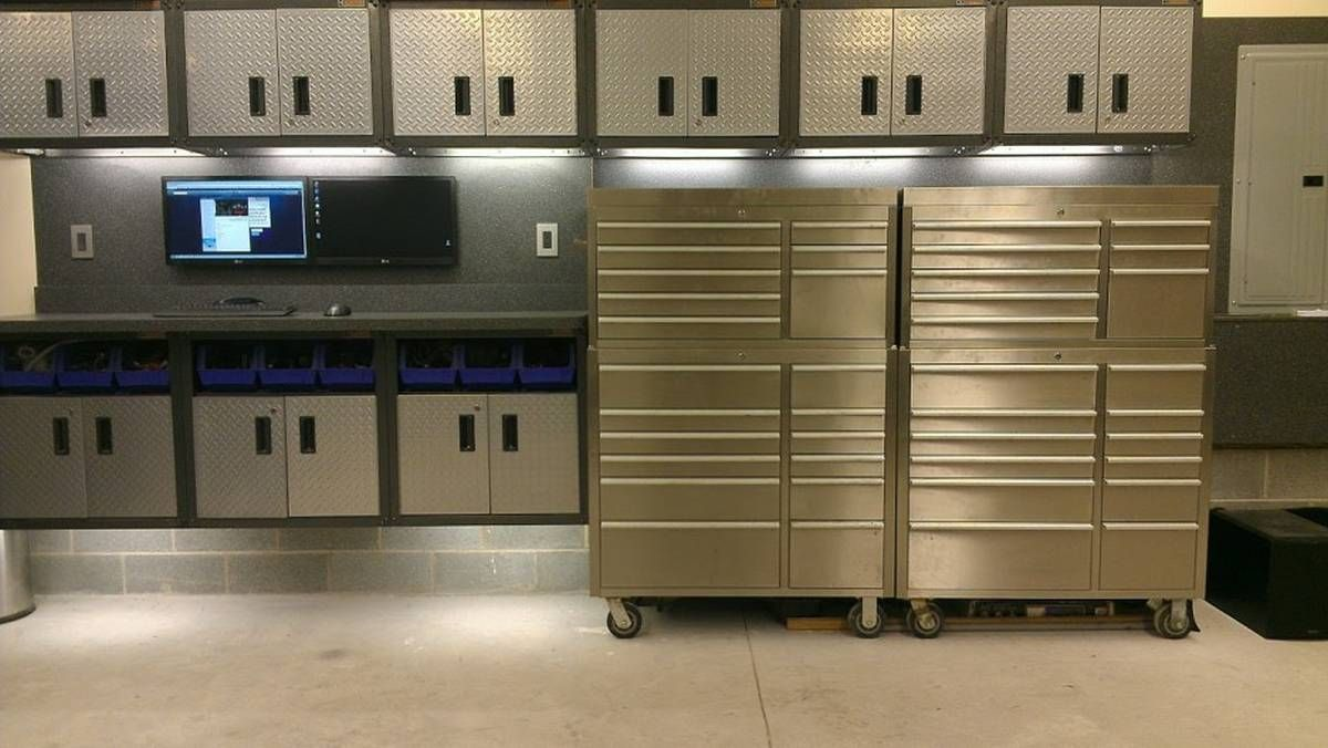 Awesome Sears Metal Garage Cabinets