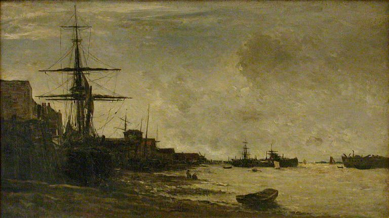 Charles Francois Daubigny - The Thames At Erith