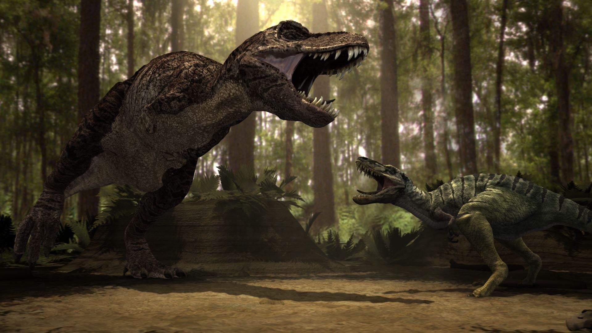 Dino Fight Dinosaur Wallpaper Dinosaur Background Prehistoric Animals
