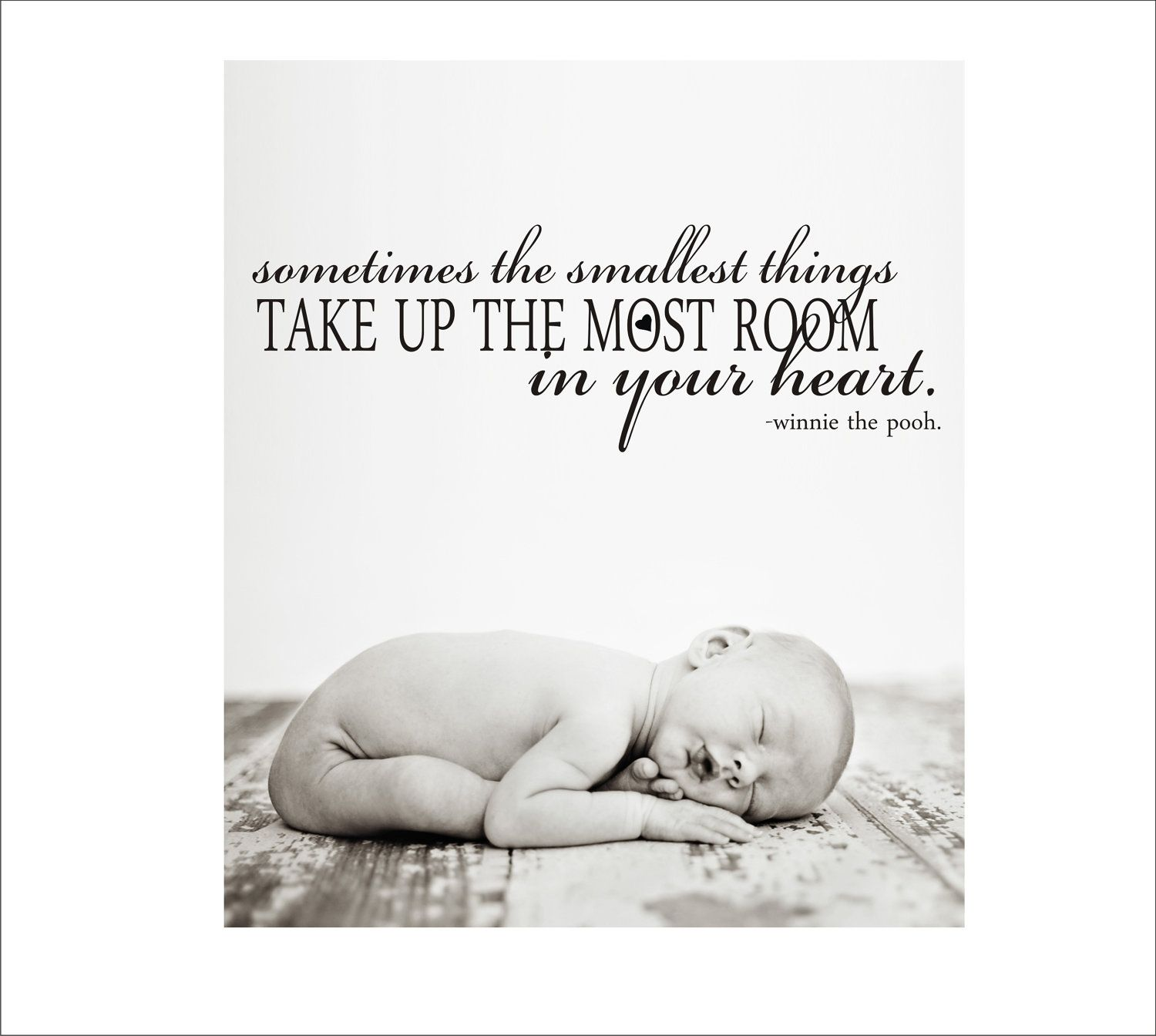 Smallest Things Quote Winnie the Pooh Baby Nursery