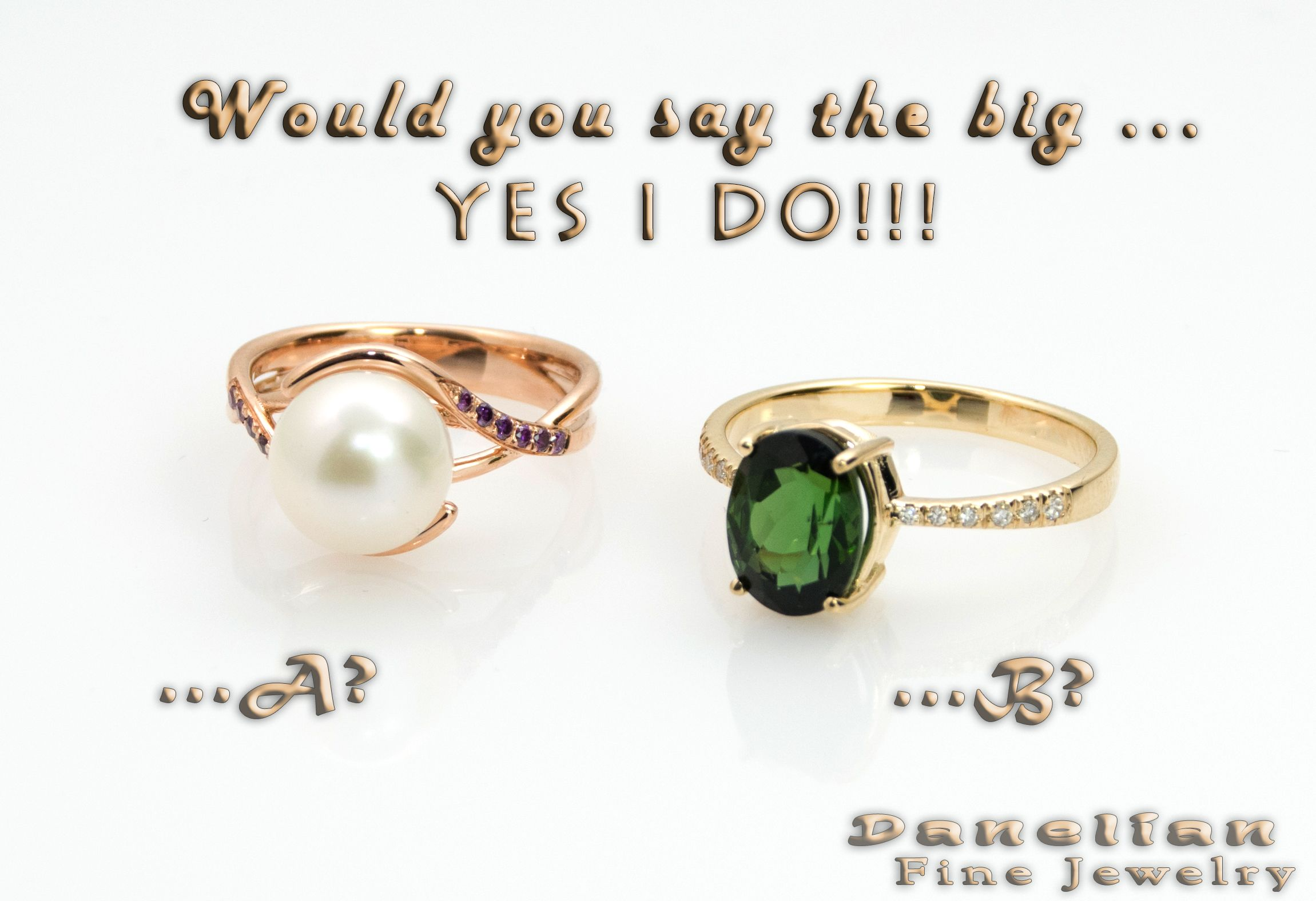 Both jewelry rings created and delivers within 10 days from our shop