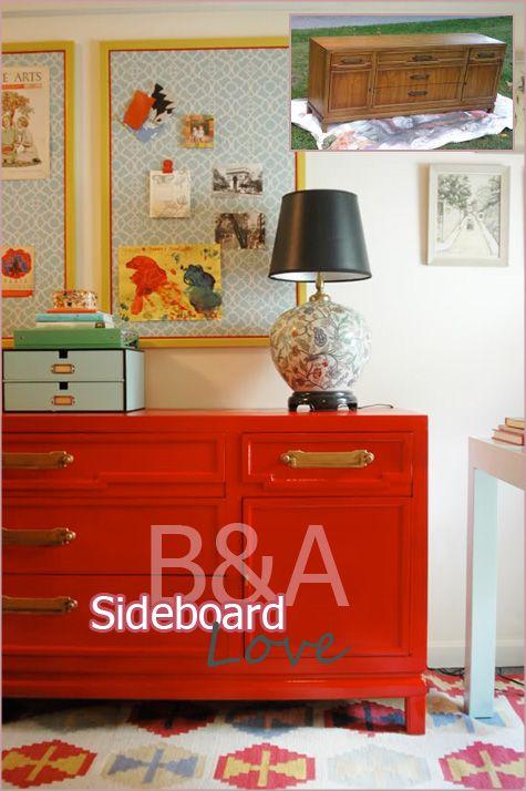 Before After DIY Handmade Furniture Dining Room Sideboard