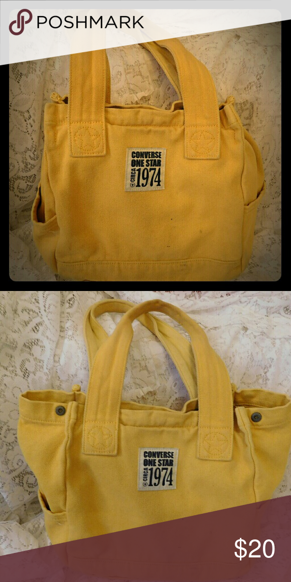 c56f174d4f Yellow Converse One Star fold out tote Yellow converse one star fold out tote  bag Converse Bags Totes