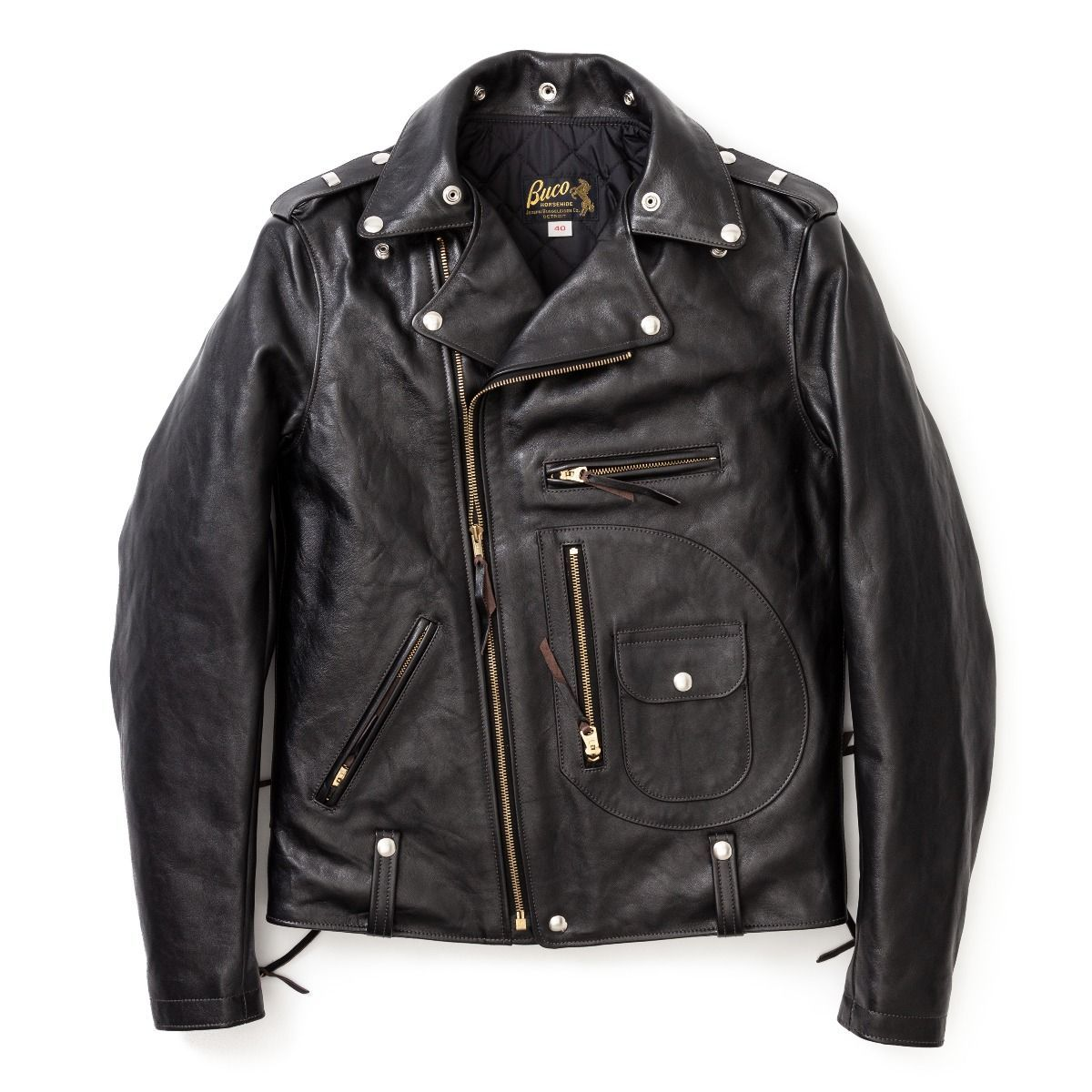 P The J 24l Is A Longer Length Version Of The J 24 The Standard Double Riders Jacket From Buco V Stylish Jackets Leather Jacket Men Style Leather Jacket Men [ 1200 x 1200 Pixel ]