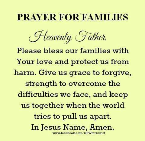 In Jesus name, Amen Prayer for family, Prayer quotes