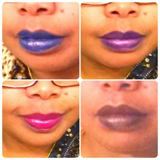 Lipstick colors I made using crayons & coconut oil! :)