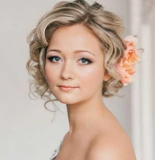 Thin Hair Wedding Styles: Curly Short Hair Flowers - Google Search