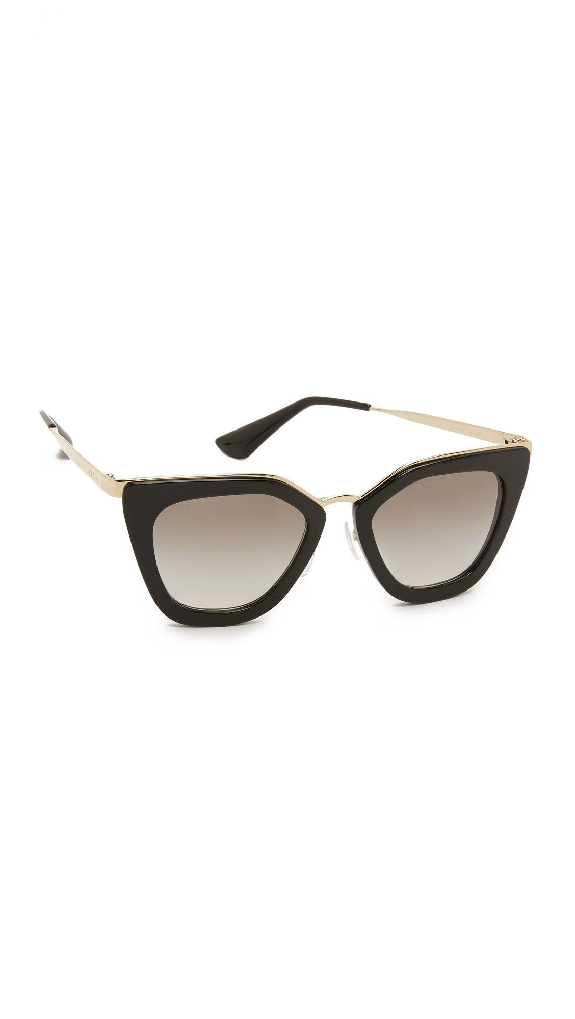 784121ec0124 womensbeuaty #Fashion Prada Thick Frame Sunglasses in Black Lyst ...