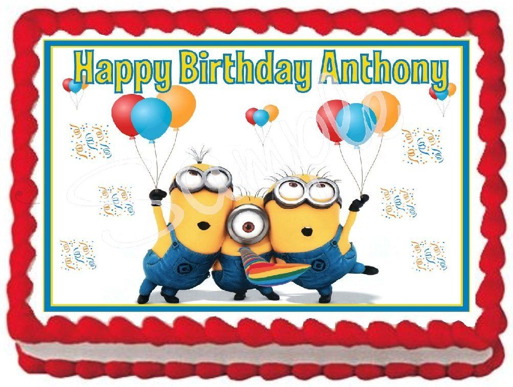Minions Edible Frosting Sheet Cake Topper 14 Sheet For more