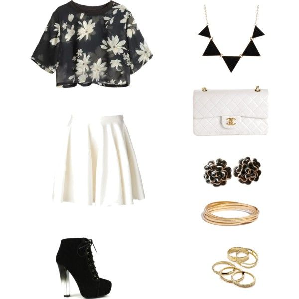 Skater Daisies (Summer 2015 Collection) by potterhead712 on Polyvore featuring polyvore, fashion, style, Giambattista Valli, Fahrenheit, Chanel, Kendra Scott and Madewell