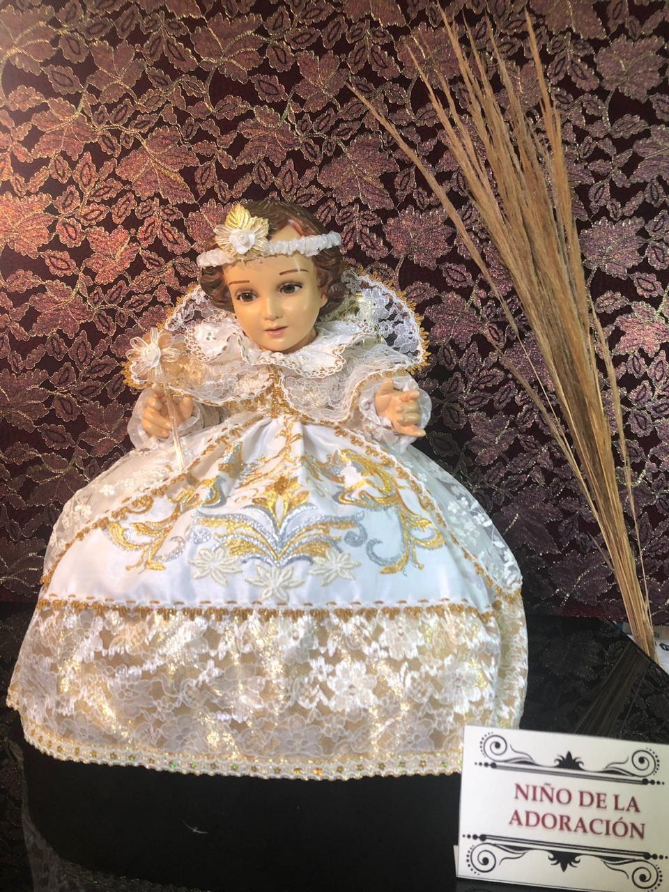 Vestidos De Nino Dios Creaciones Cid Ninos De Dios Como Hacer Flores De Papel Despues De Navidad