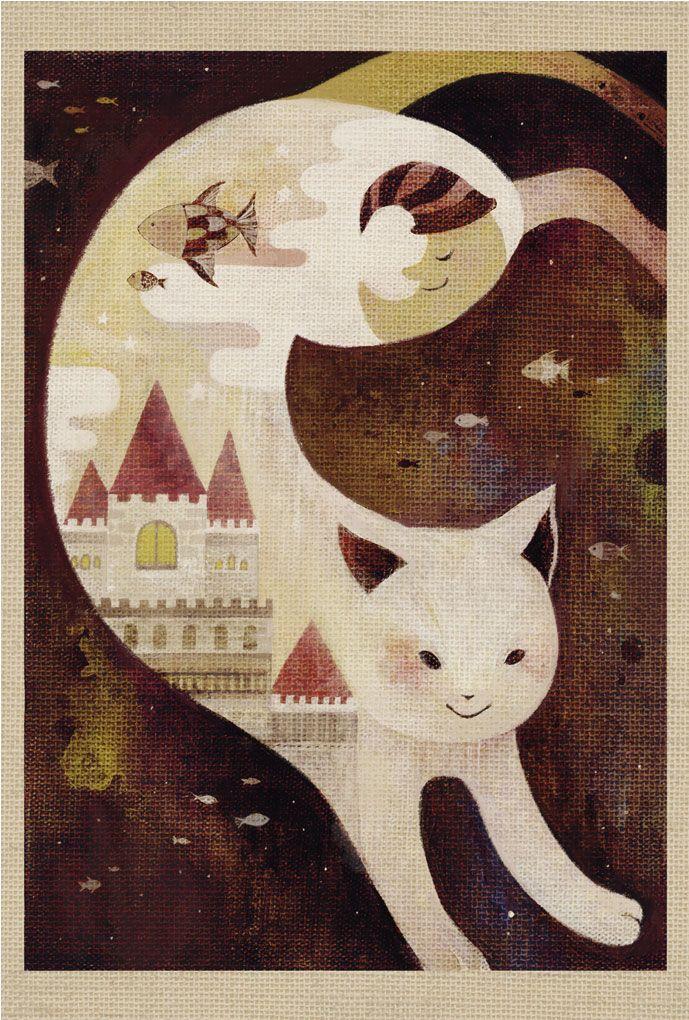 cat art illustration