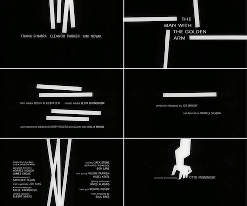 Opening titles of The Man With The Golden Arm