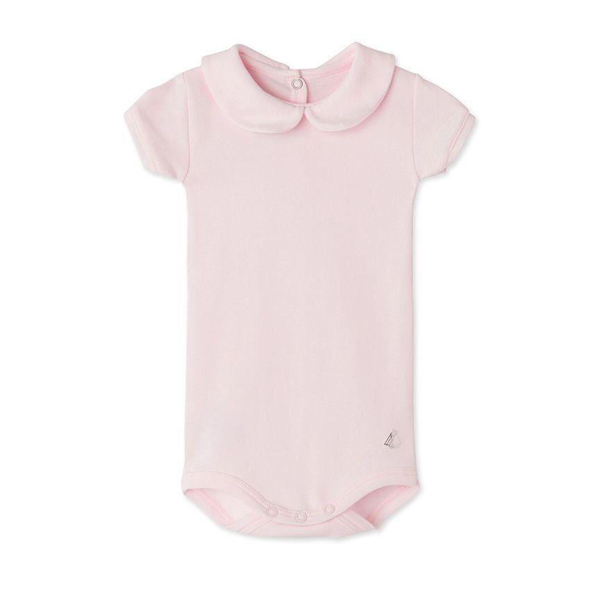 Baby girls  bodysuit with collar  7a2103d2b