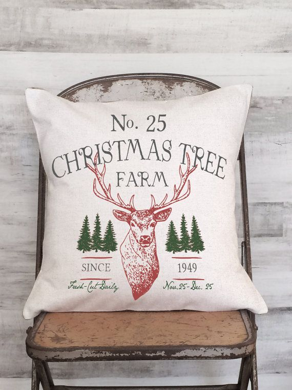 Christmas Pillow Cover Holiday Decor Christmas Tree by JolieMarche & Christmas Pillow Cover Holiday Decor Christmas Tree by JolieMarche ... pillowsntoast.com