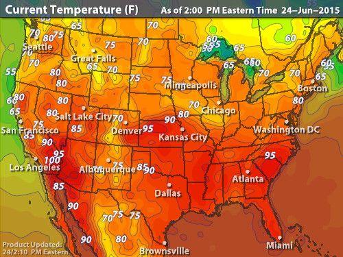 Intellicast Current Temperatures in United States