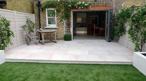 Large Patio Ideas Indian Sandstone Google Search Patio Slabs Patio Garden Patio Design