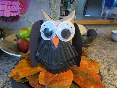 ▷ How To Make Owls from Toilet Paper Tube Craft #2 Halloween