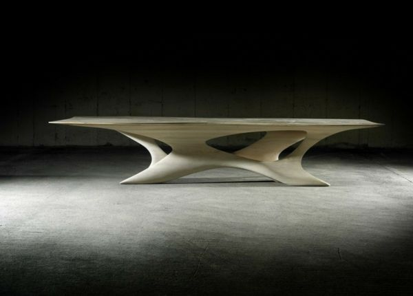 futuristischer Esstisch von Joseph Walsh - Erosion II | Tisch/Bäume ...