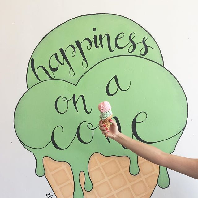 Mural mural on the wall, who's the happiest of them all 🤔  Stop by our PB store to view this amazing mural painted by our very own, @nicole_soriano 👏🏻 #hammondsicecream #hammondsflights #pointlomalocals #sandiegoconnection #sdlocals #sandiegolocals - posted by Hammond's Gourmet Ice Cream  https://www.instagram.com/hammondsicecream. See more post on Point Loma at http://pointlomalocals.com