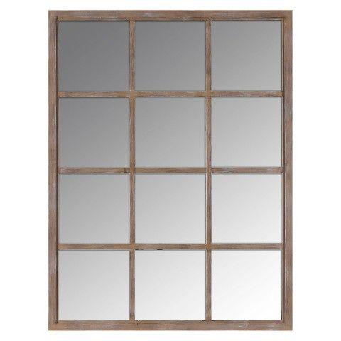 Threshold™ Window Pane Mirror - Brown 23x30