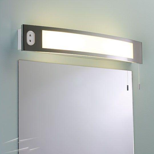 Seville Shaver Wall Light, above the mirror bathroom light ...