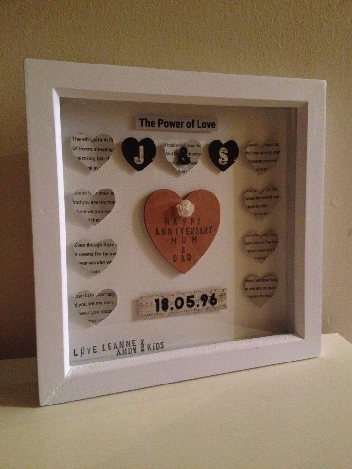 Absolutely stunning anniversary gift with wedding song lyrics also has initials and date of marriage just stunning #lovecrafts https://www.facebook.com/Leannescrafts140711?ref=bookmarks
