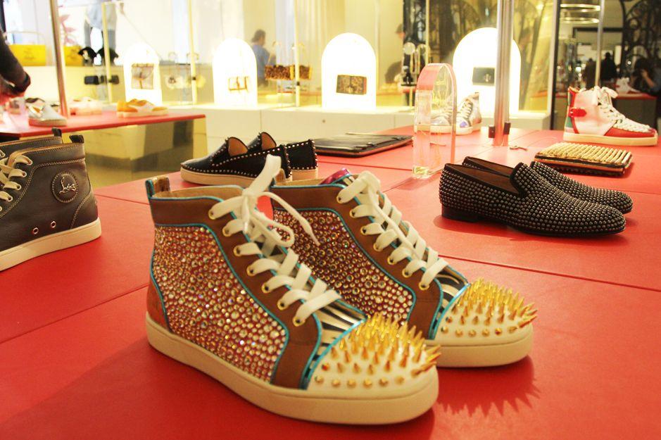 Christian Louboutin pop up store at Selfridges. men s shoes!  1616b656f5da