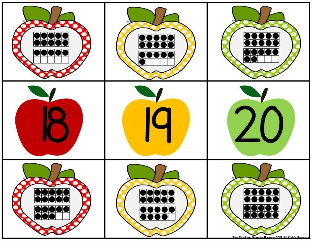 Apple Number Amp Ten Frame Match Free With Images