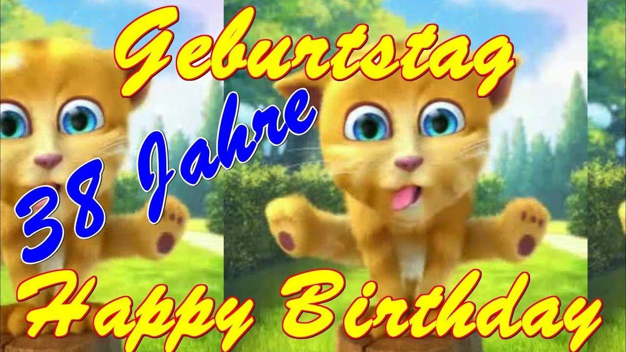 Bunte Geburtstagskarte Mit Ballons Zum 38 Geburtstag