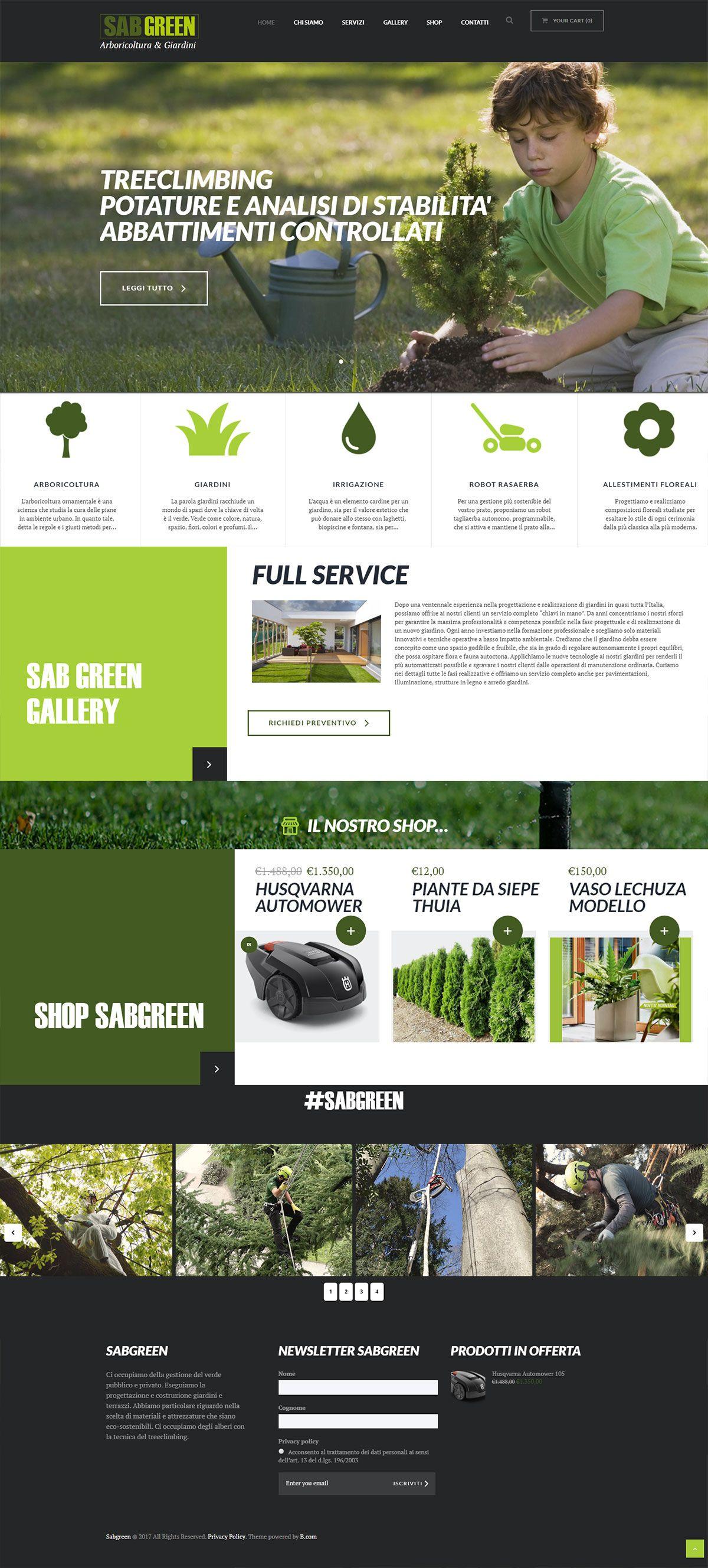 Web Site SabGreen - Arboricoltura e Giardini