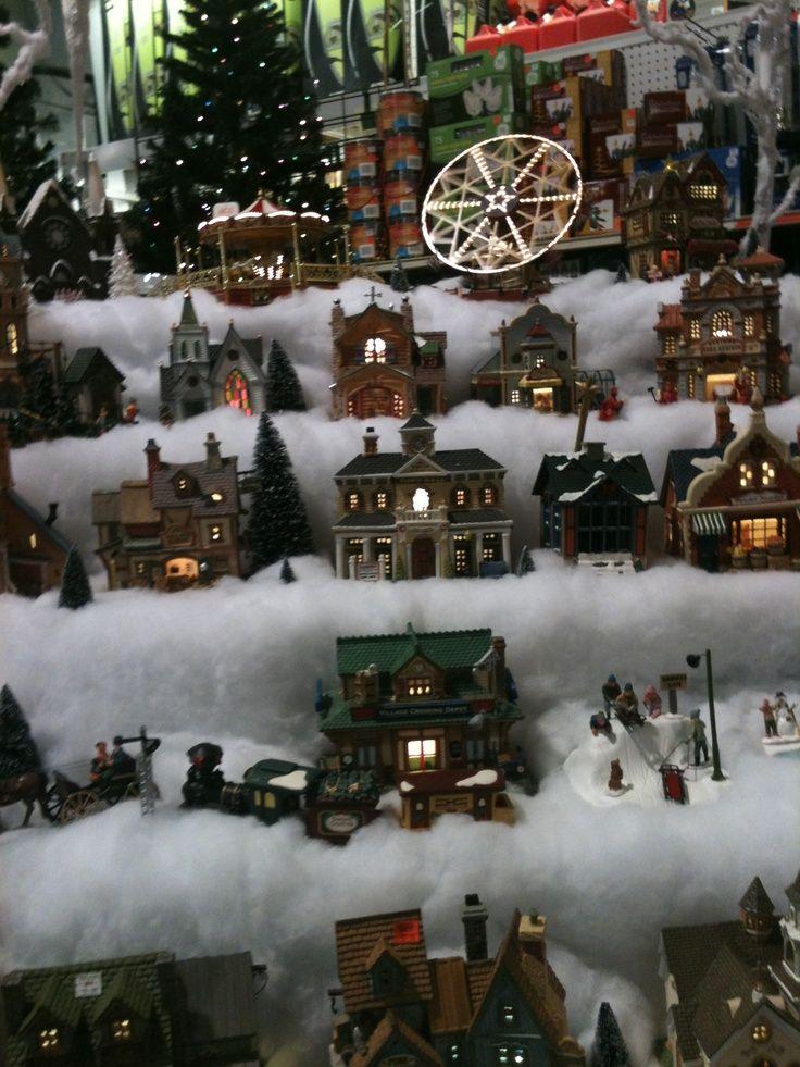 Christmas Setups.Xmas Village Display Setups Christmas Village Setup It