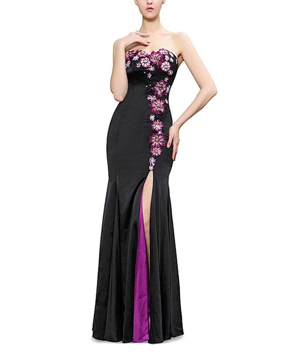 Look at this zulilyfind ever pretty black u purple floweraccent