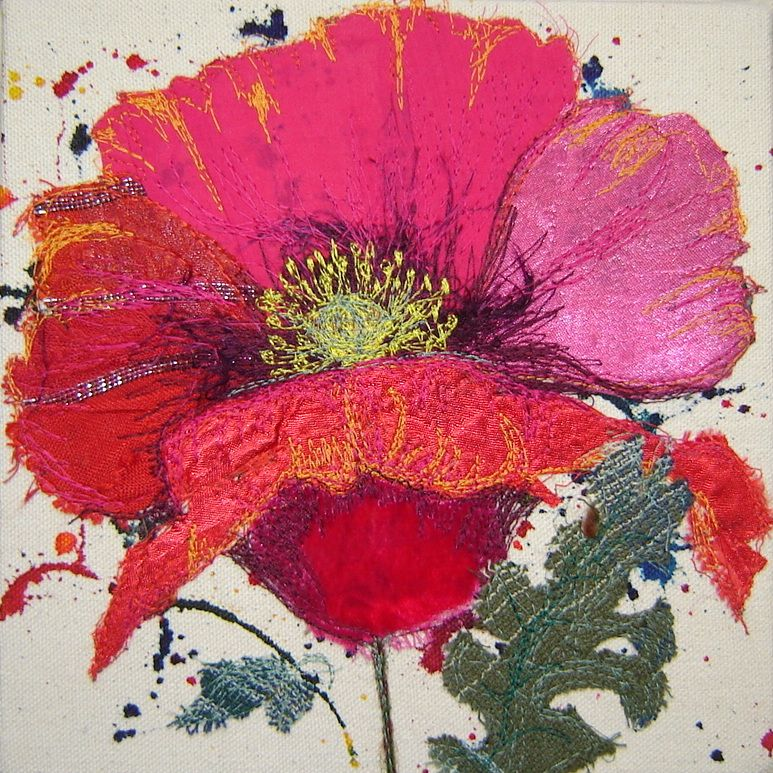 Textile embrodier Art  | Textile Artist Sue Myles will guide you through creating a fabric ...