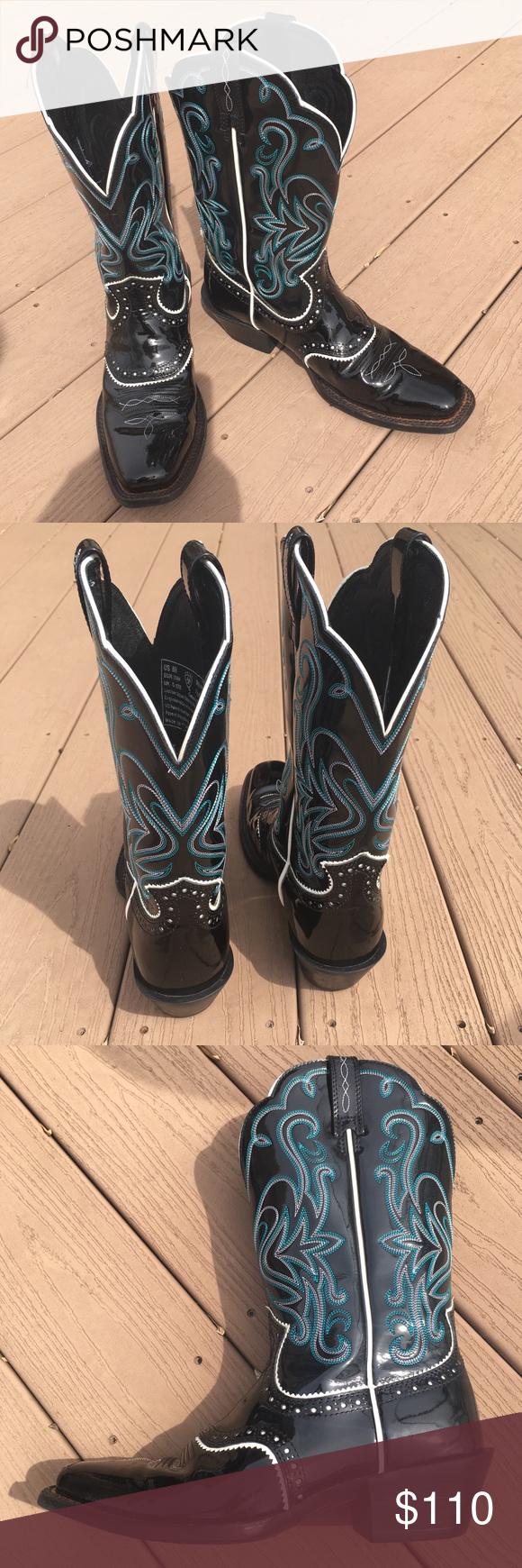 be8624304b4 Ariat Patent Leather Women's Cowboy Boots   My Posh Picks   Fashion ...