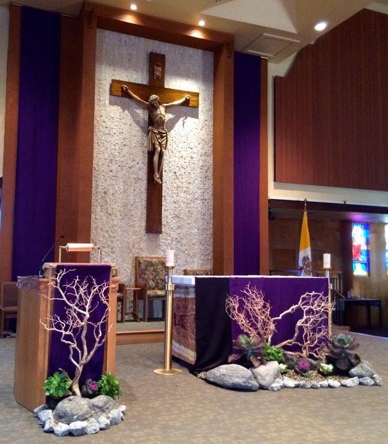 Cross Wedding Altar Flowers: Image Result For Catholic Church Lent Decorations