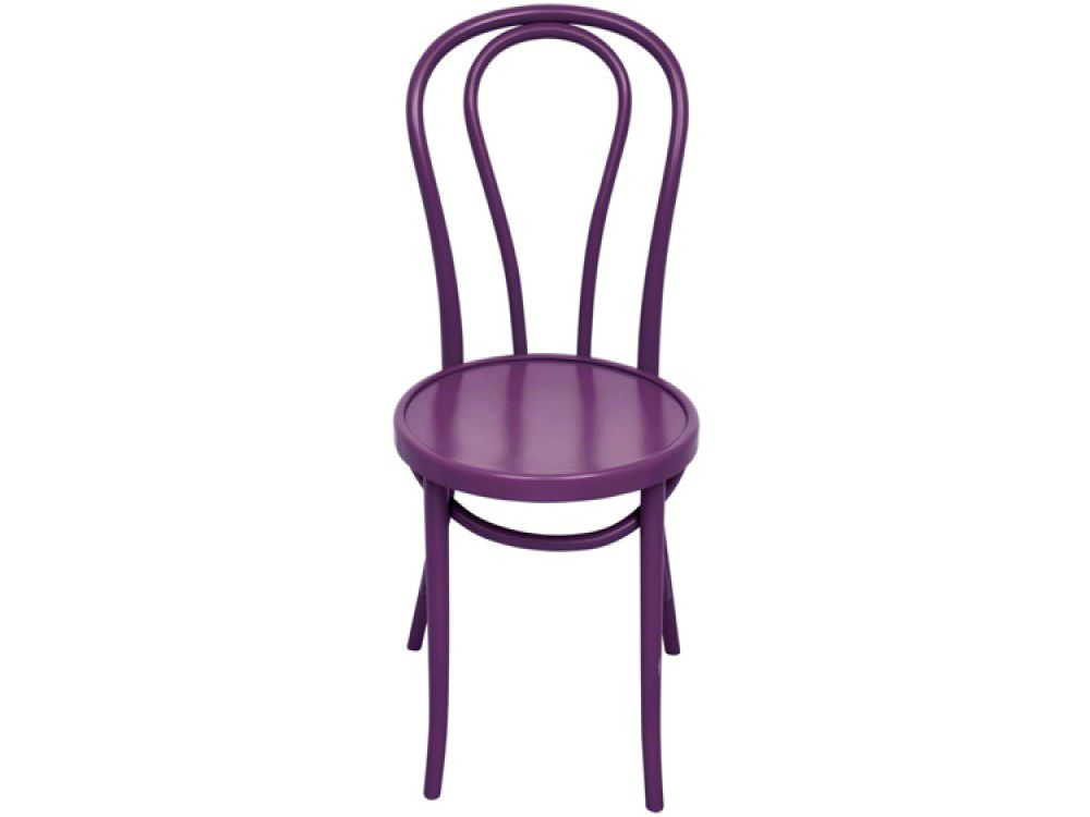 purple tulip dining chair. x 4 @Molly Casey what are these chairs called?  Love them!!