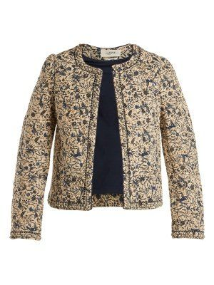 Clearance Good Selling Outlet Latest Hustin floral-print quilted cotton-blend jacket Isabel Marant MLdl4lKo