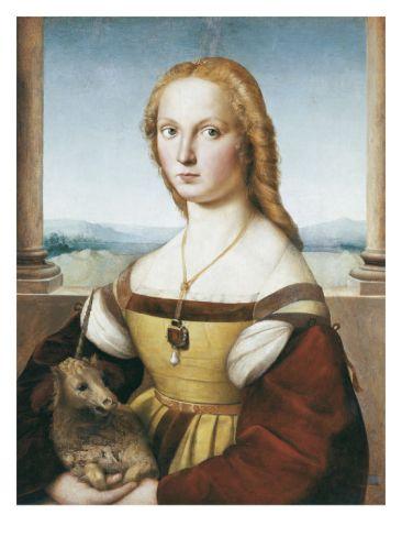 Woman with an Unicorn-- Raphael