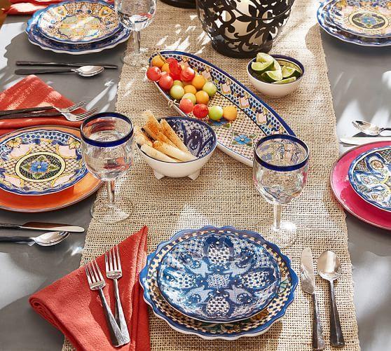 Del Sol Melamine Dinner Plates