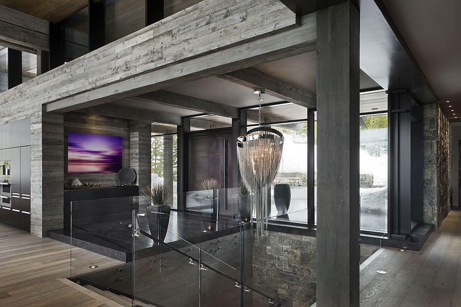 Len Klassisches Design luxury ski resort in montana by len cotsovolos entry foyer