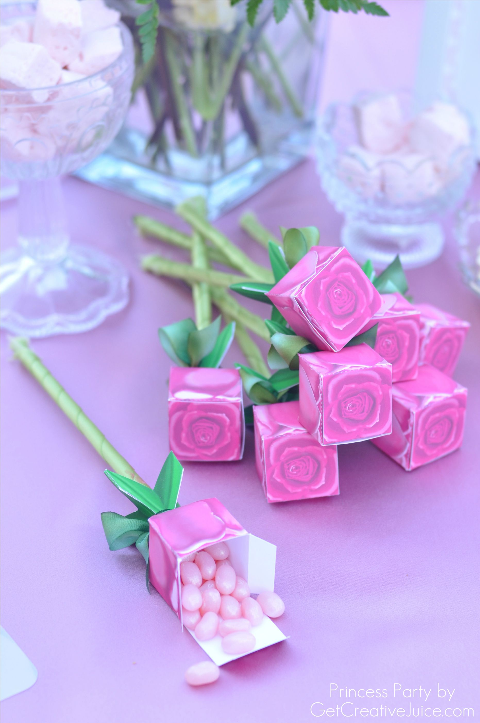 Princess Party Favor Ideas - Rose Favor Box | cinderella party ...