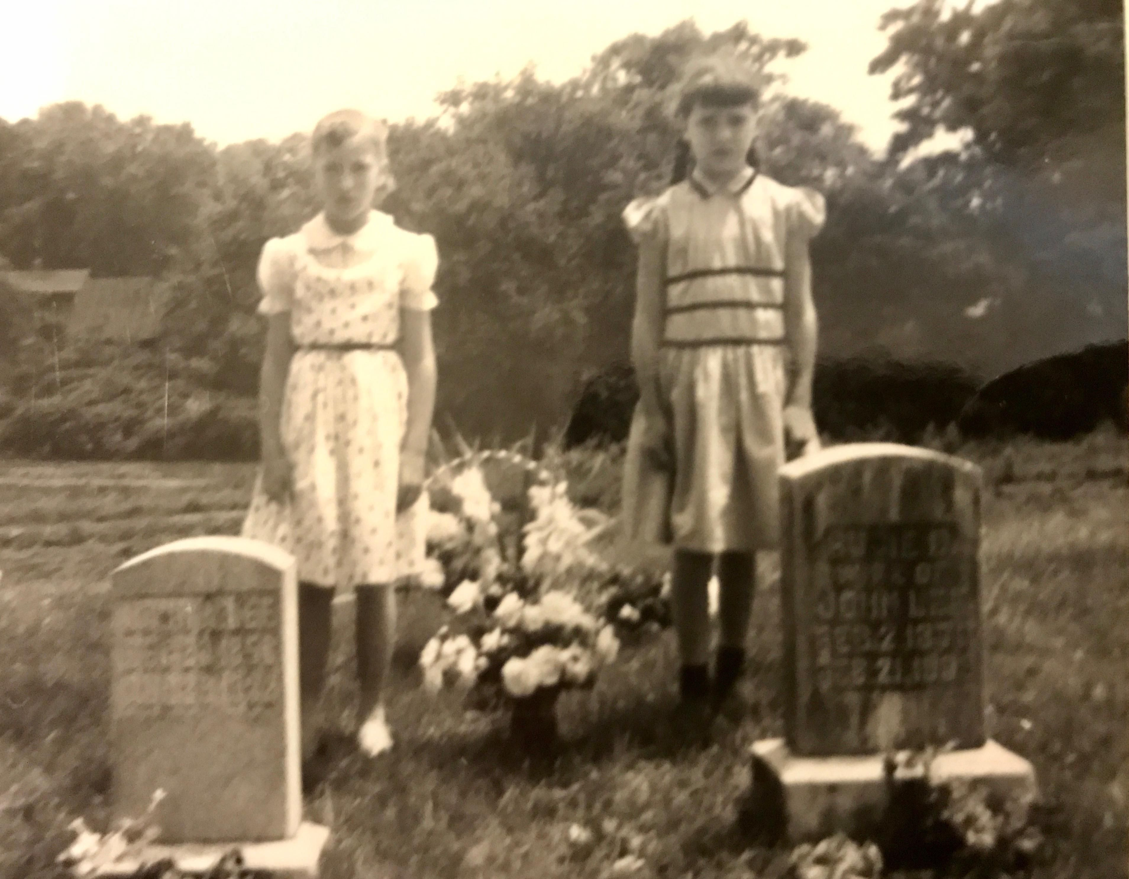 Creepy Graveyard Photo Of My Mom And Her Sister From
