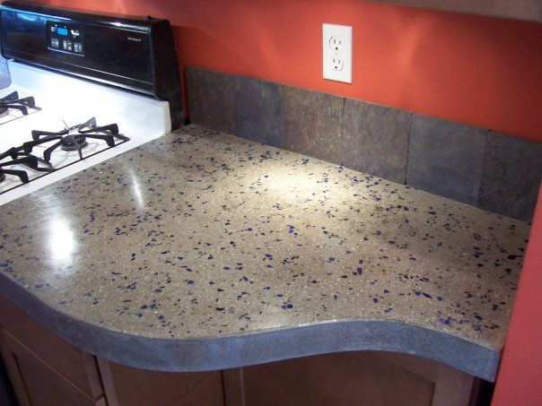 concrete countertops for the kitchen a solid surface on the cheap kitchen stuff i like diy. Black Bedroom Furniture Sets. Home Design Ideas