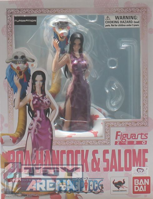 Visit http://www.toyarena.com/product_info.php/figuarts-zero-boa-hancock-salome-one-piece-figure-p-5824    The enchanting Boa Hancock joins the Figuarts ZERO series complete with gorgeous China dress and her snake pet Salome! Scultped in exquisite detail and stunning proportion this figurine set includes interchangeable right hand part for posing without Salome and a special display stand.