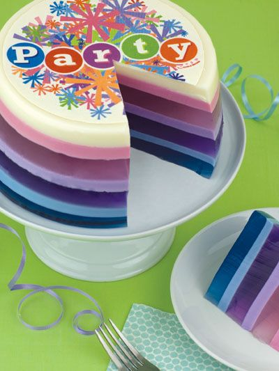Terrific Party Pop Jello Cake It Looks So Cool One Of My Kids Wants A Funny Birthday Cards Online Alyptdamsfinfo